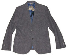 Armani Exchange A|X Mens Navy Tweed Slim Wool Sportcoat Blazer Jacket New 36R