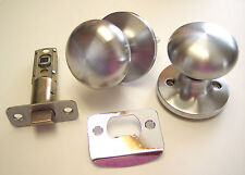 (8) NEW Kwikset Safe Lock Athens Passage Knob Sets in Satin Chrome SK1000AS 26D