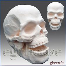 3D Silicone Soap/Candle Mold-Scary Skeleton Head(2 parts assembled mold)