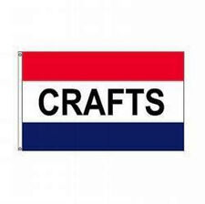 CRAFTS Residential Business Red White Blue Message Flag 3x5 Print NYLON USA Made