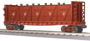 2012 MTH 30-76472 Pennsylvania Flat Car  w/Bulkheads & LCL Containers new in box