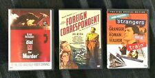 Foreign Correspondent, Dial M for Murder, Strangers on a Train Dvds Never Played