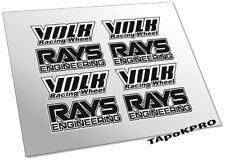JDM Custom Volk Rays TE37 LE37 stickers for 15-18 inch rim