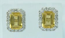 Citrin Brillant Ohrringe in 18 Kt.Weißgold Neu Ohrstecker Brillanten Nr.1617
