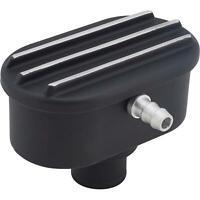 Black Aluminum Universal 1-1/4 Inch Finned Push-In Breather w/ PCV