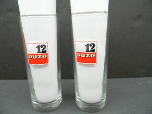 OUZO 12 SET OF TWO GLASSES