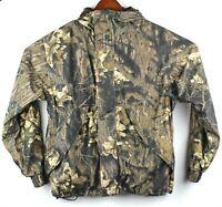 Cabelas Dry-Plus Full Zip Camouflage Jacket Hooded Mens Large Hunting Coat Brown