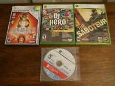 Lot of 4 Xbox360 games: Fable Lost Chapters; Saboteur; DJ Hero; Mirror's Edge