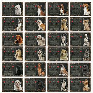 [ Kelly66 ] Pets Dog Pit Bull Bulldog Chihuahua Boxer Metal Sign Tin Poster Home