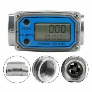 Digital LCD Turbine Durchflussmesser Ölzähler Chemikalien Wasser Messgerät