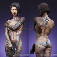 1/12 Unpainted Resin Figure Model Female Mechanical Assassin Garage Kit Statue