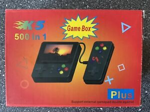 500 Games Handheld Game Console Pocket Mini Gamepad with Controller & TV Connect