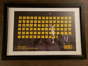 STEPHEN CURRY GOLDEN STATE WARRIORS LIMITED EDITION PRINT 194/402 3-POINT RECORD
