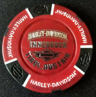 HD NIEDERRHEIN THUNDERBIKE~Germany Harley International Poker Chip~ Wht//Red//Blu