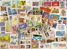 500 World Stamps ~ Unpicked Charity Kiloware ~ mostly on paper (see 5 scans)