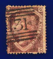 1870 SG52 1½d Lake-Red Plate 1 G6(2) GC Misperf & Uncut Perf G/U Cat £110 cdpy