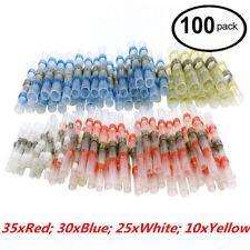 New listing 100Pcs Solder Sleeve Heat Shrink Butt Waterproof 26-10 Awg Wire Splice Connector