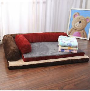 Corduroy Mattress Memory Foam Pet Bed Dog Cat Kitten Puppy Sofa Basket Durable