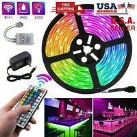 Led Strip Lights 5M 16.4ft RGB Room Lights 5050 Led Tape Lights Color Changing