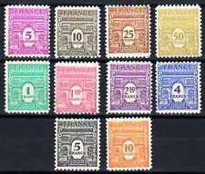 France 1944 Yvert n° 620 à 629 neuf ** 1er choix