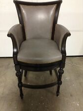 """Frontgate Chesterfield BAR 30"""" Seat Height COUNTER Stool Chair Wood Stargo Dove"""