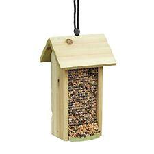 Relaxdays Mangeoire À oiseaux Distributeur de Nourriture Graines en bois &#