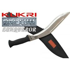 KUKRI Cold Steel Machete / Knife With Sheath Silver 45cm-CONQUEROR