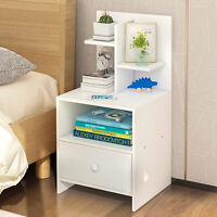 Drawers Wooden Bedside Table Cabinet Bedroom Furniture Storage Nightstand NEW