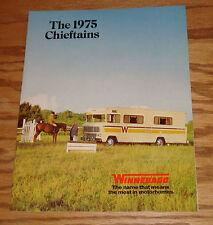 Original 1975 Winnebago Chieftain Sales Brochure 75 D-25C CL D-27C CL