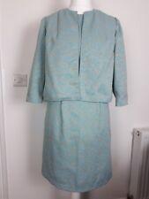 Vintage 60's Blue & Glittery Gold Shift Dress & Jacket Handmade Size 14-16 (2)