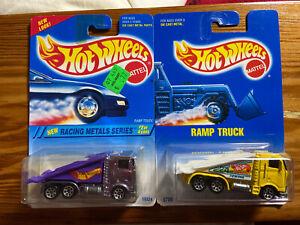(2) HOT WHEELS*1994 Racing Metal Series RAMP TRUCK #337 / 1991 RAMP TRUCK #187