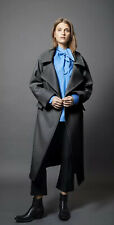 NWT Smythe Dark Grey / Charcoal Wool-Blend Oversized Blanket Coat, Small