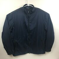 Tiger Woods Platinum XL Blue/Black Lightweight Poly Full Zip Jacket/Windshirt