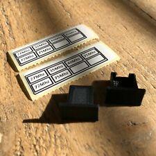 Crystal Holders & Labels for Acoms Techniplus Technisport Transmitter Receiver