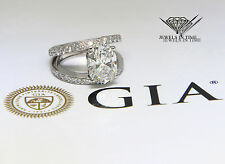 4.01 Carat Cushion Brilliant Diamond Platinum Ring GIA BRAND NEW