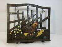 Vintage Heavy Metal Musical Note Book Stand Rooster Chicken