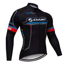 2021 Men's Team Cycling Long Sleeve Jersey Bike Shirt Racing Clothing Quick Dry