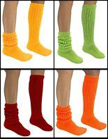Women's Slouch Socks Scrunchie 9-11 Cotton Workout Lg Long w/Flaws Heavy Hooters