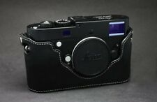 Black with White Stitch Half Case for Leica M240, M262, M, MP - BRAND NEW