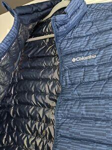 NWOT Men's Medium Columbia Thermal Reflective Omni-Heat Powder Lite Vest Blue