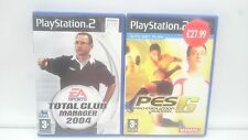 TOTAL CLUB MANAGER 2004 + PES 6 PRO EVOLUTION SOCCER SONY PLAYSTATION PS2 PAL