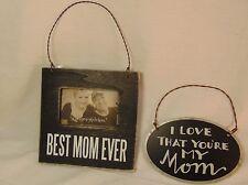 Photo Frame & Tin I Love You Mom Hanger Mother's Day Birthday Gift for Mom #767
