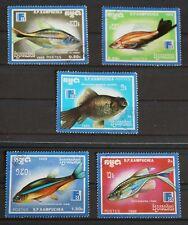 Briefmarken  Fische aus Kambodscha von 1988