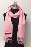 New Fashion Women's Solid Warm 100% Cashmere Scarf Wrap Shawl SCOTLAND SOFT Pink