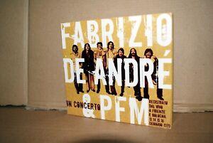 FABRIZIO DE ANDRE' & PFM IN CONCERTO 2 CD OTTIMO DIGIPAK 2007