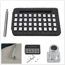 Alphabet Letter Stamp Leather Stamp Stainless Steel Kit Metal Punch Set HS
