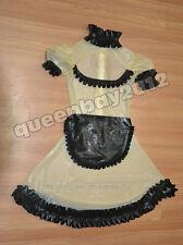 100% Latex Rubber Gummi Maid/Maiden kleid Dress Ganzanzug Anzug Schürze New