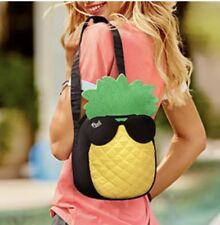 NWT Victoria's Secret PINK Pineapple Cooler Beach Tote Lunch bag Shoulder Strap