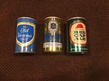 Old Vienna Lager / Old Vienna / Carling Red Cap Ale 3 Can SS Pull Tab 12 oz lot