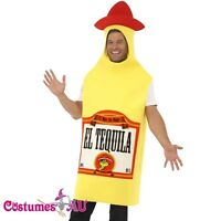 Tequila Bottle Mens Unisex Stag Night Mexican Mexico Fancy Dress Funny Costume